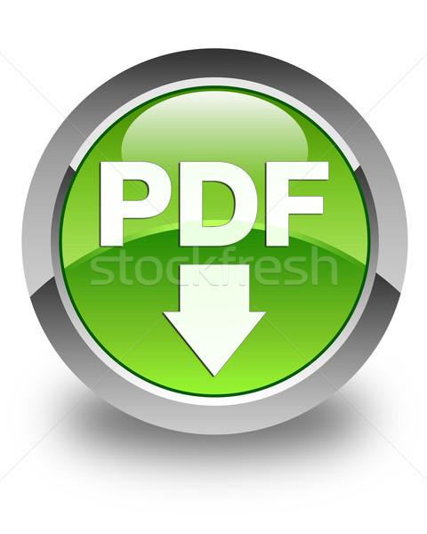 Pdf скачать зеленый кнопки информации Сток-фото © faysalfarhan