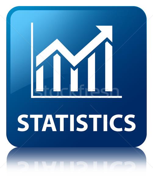 Statistiche lucido blu piazza pulsante mercato Foto d'archivio © faysalfarhan