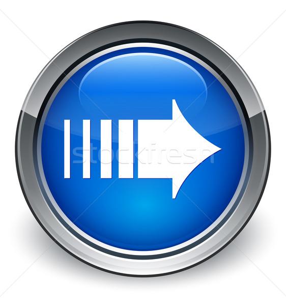 More arrow icon glossy blue button Stock photo © faysalfarhan