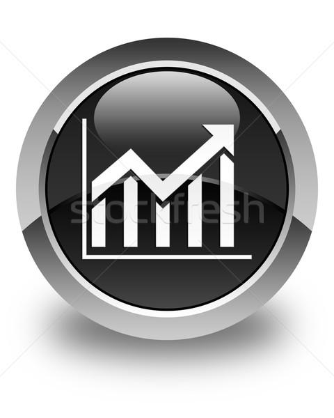 Estadística icono negro botón mercado Foto stock © faysalfarhan