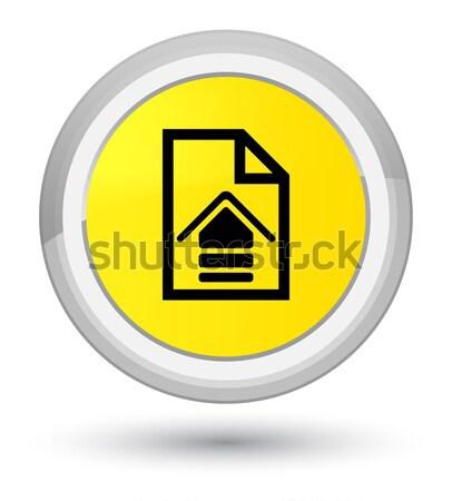 Feltöltés irat ikon fényes fekete gomb Stock fotó © faysalfarhan