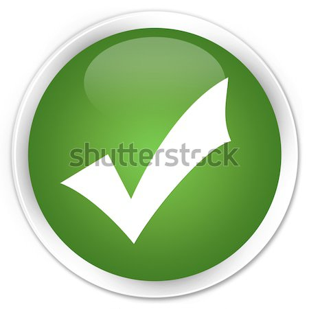 Validate icon green button Stock photo © faysalfarhan