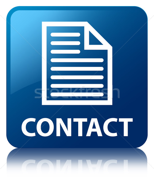 Contact (page icon) glossy blue reflected square button Stock photo © faysalfarhan