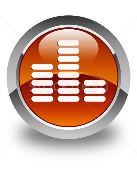 Korektor ikona brązowy przycisk technologii Zdjęcia stock © faysalfarhan
