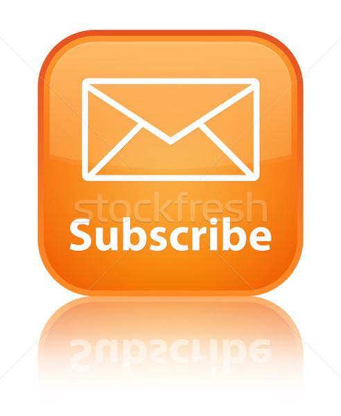 Subscribe glossy orange reflected square button Stock photo © faysalfarhan