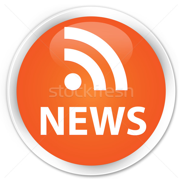 News (rss) icon orange button Stock photo © faysalfarhan