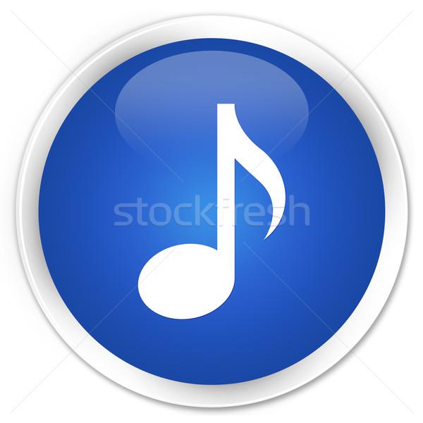 Foto d'archivio: Musica · icona · blu · pulsante · business · internet
