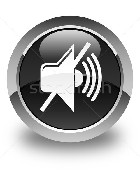 Kısmak hacim ikon parlak siyah düğme Stok fotoğraf © faysalfarhan