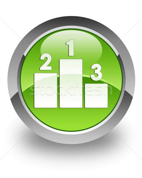Podium glanzend icon groene sport glas Stockfoto © faysalfarhan