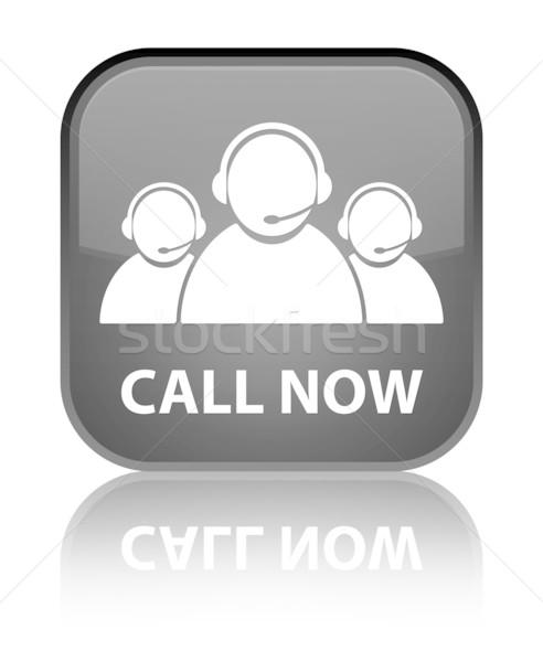 çağrı şimdi müşteri hizmetleri takım parlak siyah Stok fotoğraf © faysalfarhan
