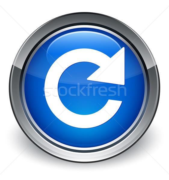 Odpowiedzieć obracać ikona niebieski przycisk Zdjęcia stock © faysalfarhan
