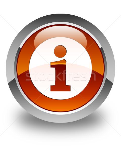 情報をもっと見る アイコン ブラウン ボタン にログイン ストックフォト © faysalfarhan