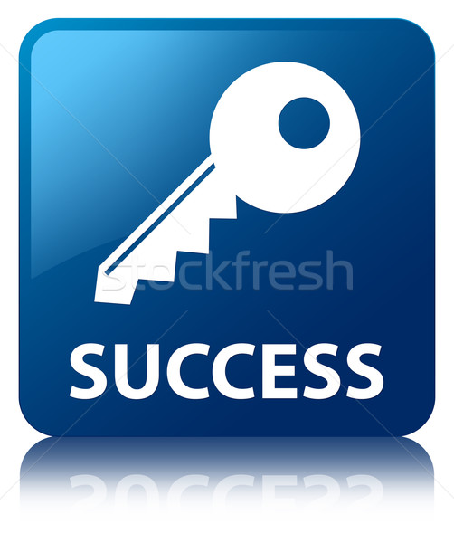 Success (key icon) glossy blue reflected square button Stock photo © faysalfarhan