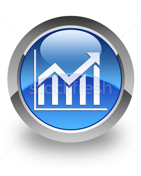 Histogram glossy icon Stock photo © faysalfarhan