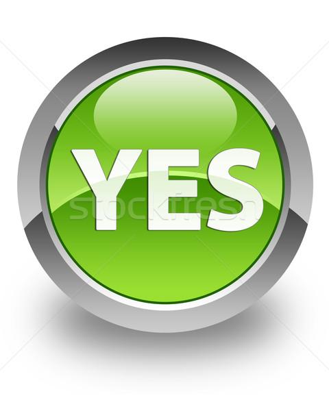 Zdjęcia stock: Tak · ikona · zielone · internetowych · sprzedaży