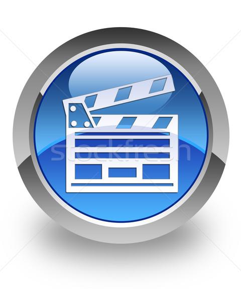 Cinema clipboard glossy icon Stock photo © faysalfarhan