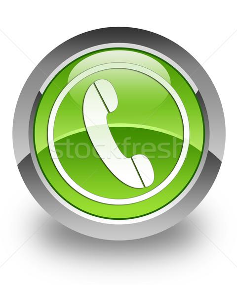 Phone glossy icon Stock photo © faysalfarhan