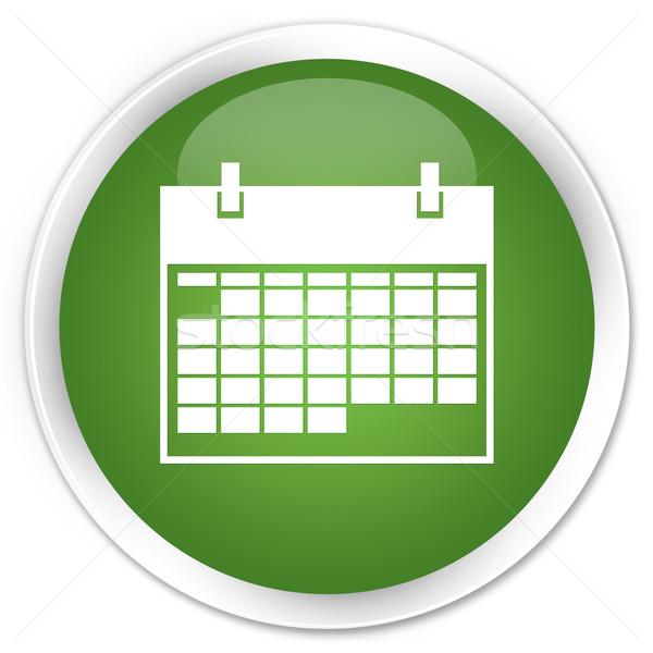Takvim ikon yeşil düğme zamanlamak simge Stok fotoğraf © faysalfarhan