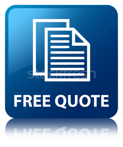 Free quote glossy blue reflected square button Stock photo © faysalfarhan
