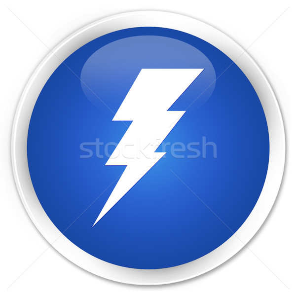 Electricity icon blue button Stock photo © faysalfarhan