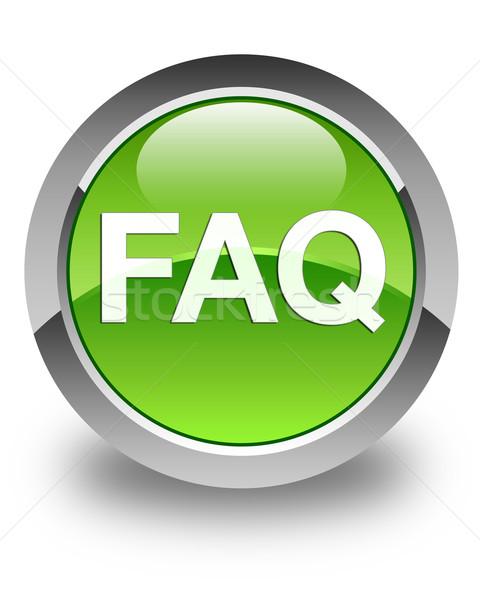 よくある質問 アイコン 緑 ボタン ヘルプ ストックフォト © faysalfarhan