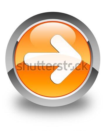 Next arrow icon glossy brown round button Stock photo © faysalfarhan