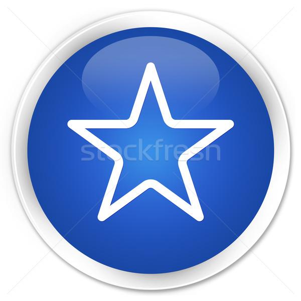 Star ikona niebieski przycisk miłości internetowych Zdjęcia stock © faysalfarhan