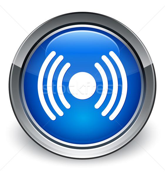 Network icon glossy blue button Stock photo © faysalfarhan