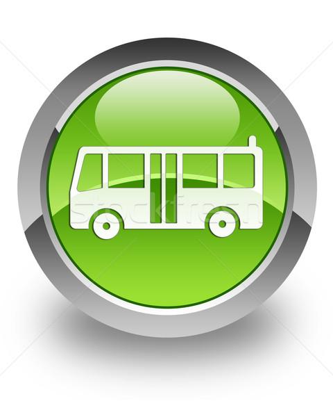 Photo stock: Bus · icône · vert · affaires · urbaine