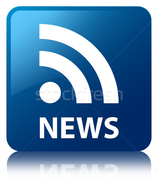 News rss feed lucido blu piazza pulsante Foto d'archivio © faysalfarhan