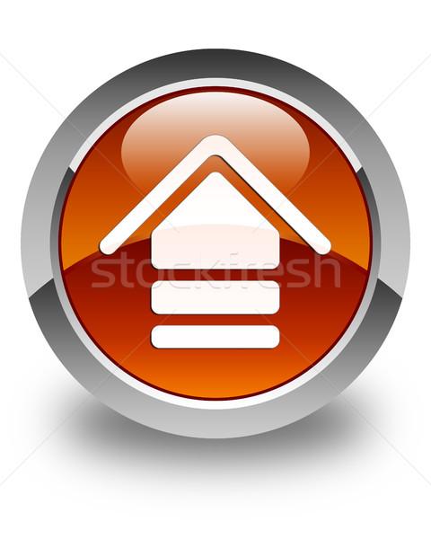 アップロード アイコン ブラウン ボタン ウェブサイト ストックフォト © faysalfarhan