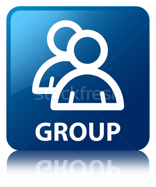 Group glossy blue reflected square button Stock photo © faysalfarhan