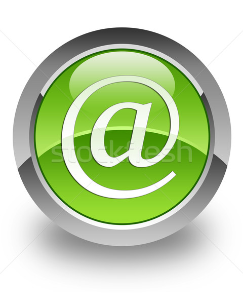 Indirizzo lucido icona verde business computer Foto d'archivio © faysalfarhan