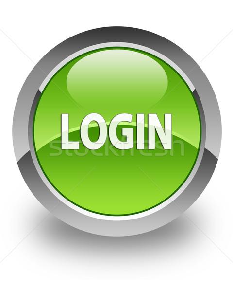 Login glossy icon Stock photo © faysalfarhan