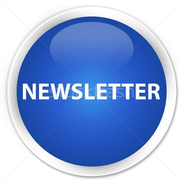 Zdjęcia stock: Biuletyn · niebieski · przycisk · Internetu · kontakt · internetowych