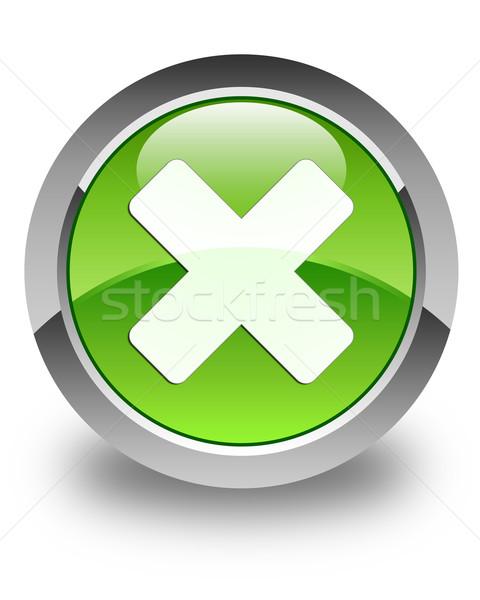 Icona lucido verde pulsante web bianco Foto d'archivio © faysalfarhan