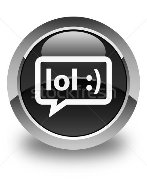 笑 バブル アイコン 黒 ボタン ストックフォト © faysalfarhan