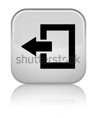 Kijelentkezés ikon fényes fekete gomb háló Stock fotó © faysalfarhan