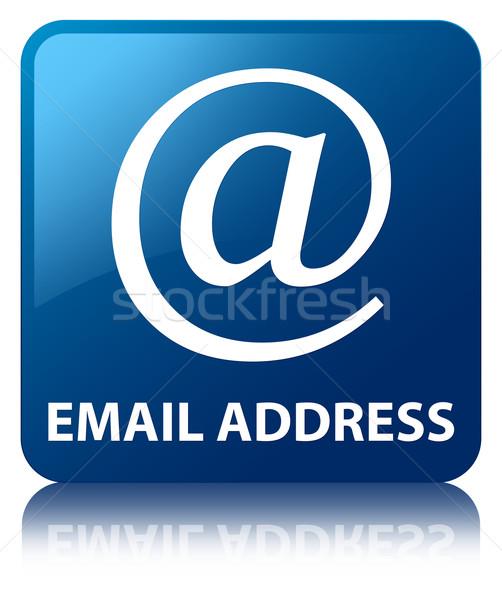 электронная почта адрес синий квадратный кнопки Сток-фото © faysalfarhan
