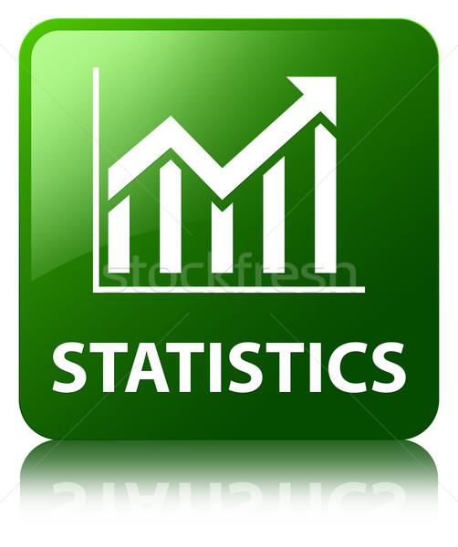 Statistics glossy green reflected square button Stock photo © faysalfarhan