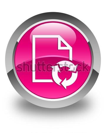 Stok fotoğraf: Indirmek · ok · ikon · parlak · kahverengi · düğme