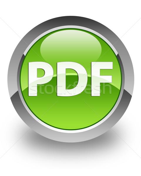 Pdf ícone verde jornal teia Foto stock © faysalfarhan