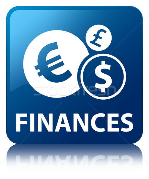 Finances glossy blue reflected square button Stock photo © faysalfarhan