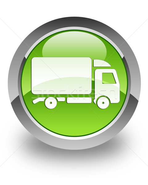 Truck glossy icon Stock photo © faysalfarhan
