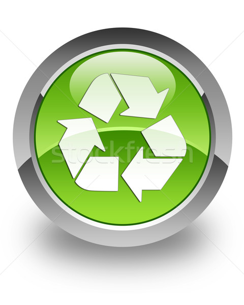 Recycle glossy icon Stock photo © faysalfarhan