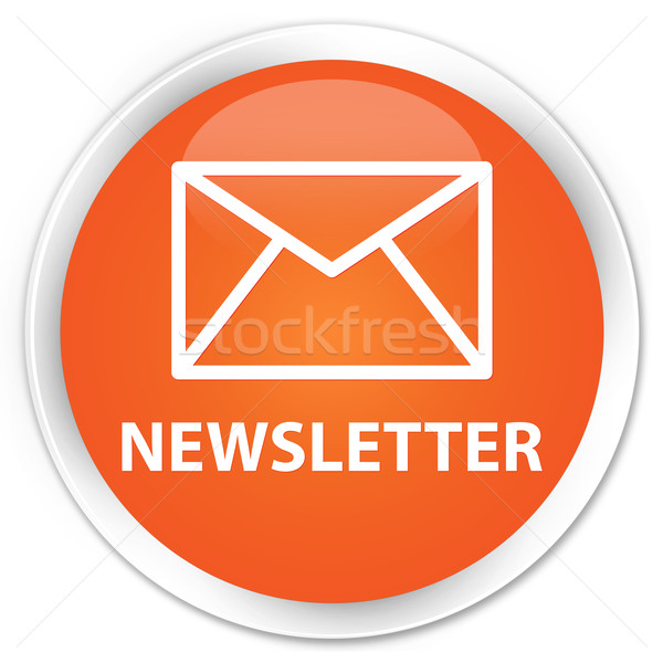 Boletim informativo laranja botão internet contato teia Foto stock © faysalfarhan