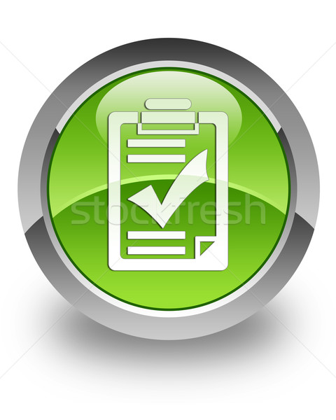 Checklist glossy icon Stock photo © faysalfarhan