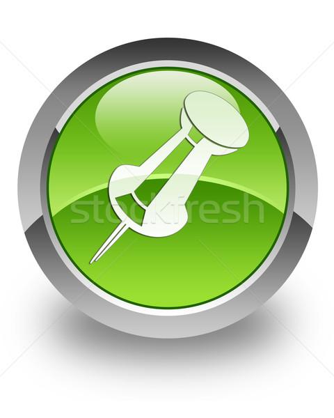 Push pin glossy icon Stock photo © faysalfarhan