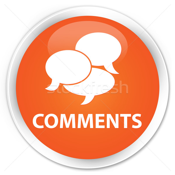 Commentaires orange bouton signe informations blanche Photo stock © faysalfarhan