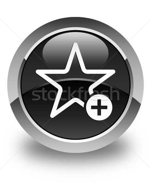 Add to favorite icon glossy black round button Stock photo © faysalfarhan